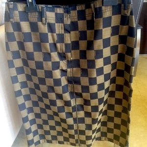 FENDI FF CHECKERED PATTERN SKIRT❤️HP